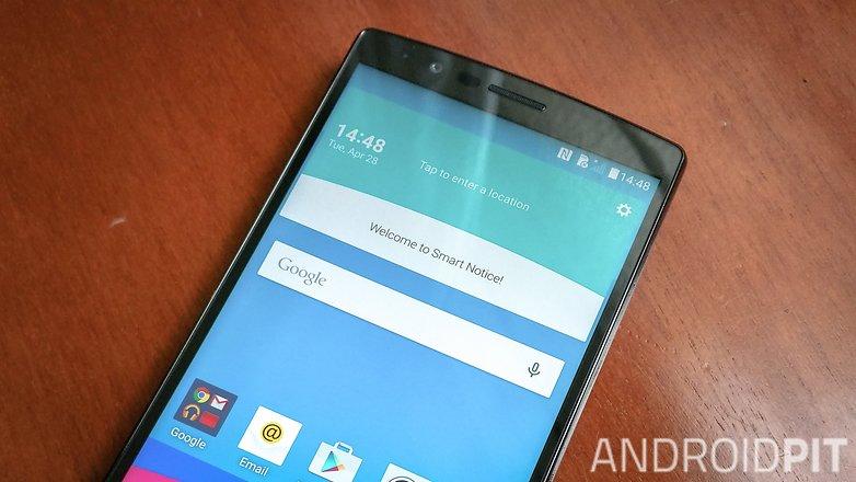 AndroidPIT LG G4 display edge