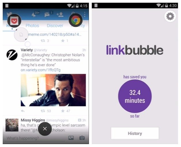 AndroidPIT Link Bubble
