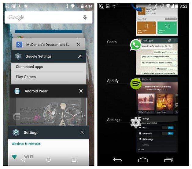 AndroidPIT Lollipop KitKat recent apps