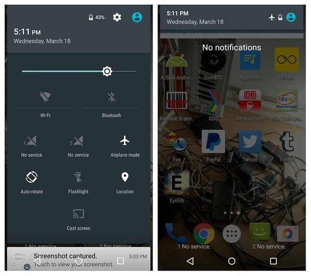 AndroidPIT Moto G 2014 battery airplane mode