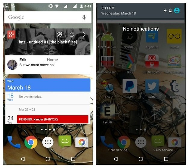 AndroidPIT Moto G 2014 battery airplane mode widgets