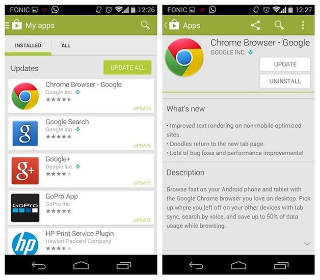 AndroidPIT Moto X Chrome Update