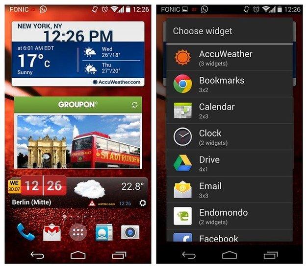 AndroidPIT Moto X Widgets