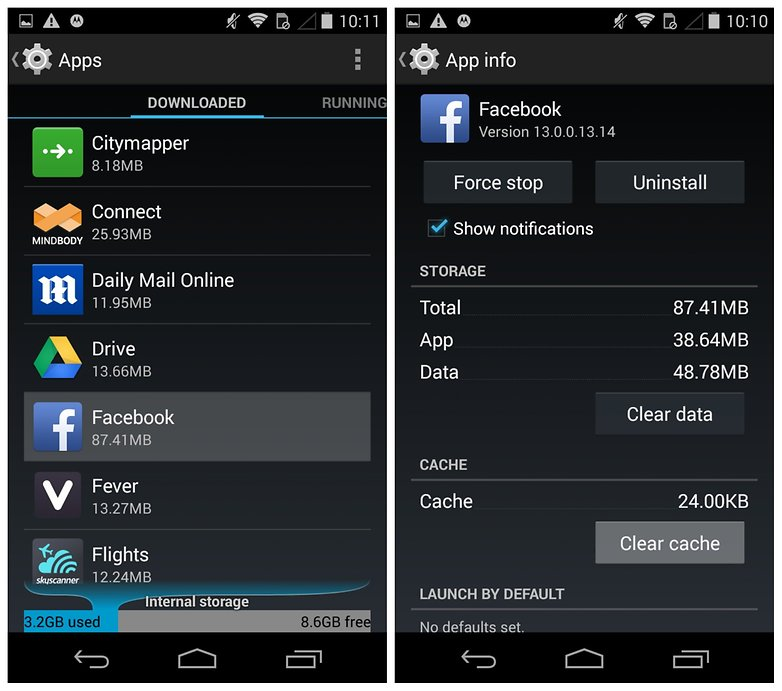 how to fix my facebook android app