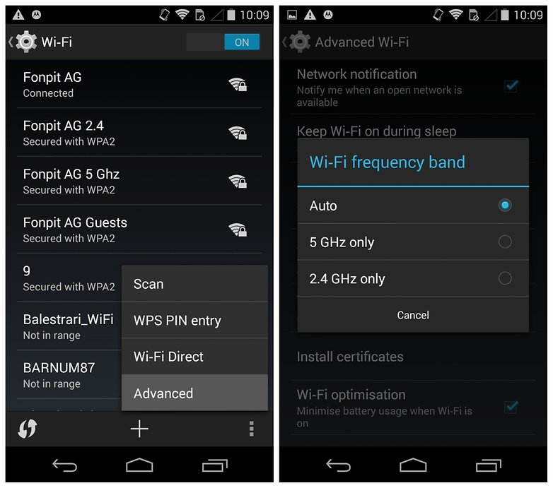 AndroidPIT Moto X problems Wi Fi frequency band