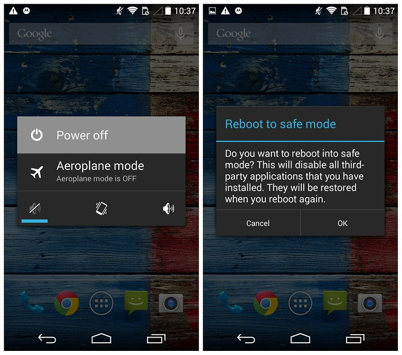 AndroidPIT Moto X problems reboot to safe mode