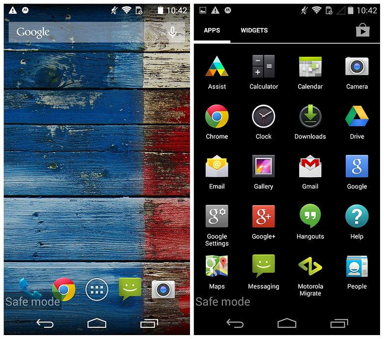 AndroidPIT Moto X problems safe mode
