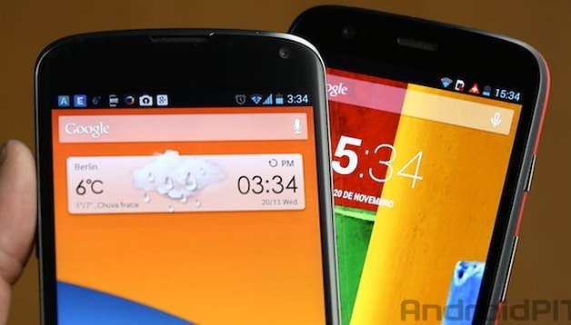 Moto G vs Nexus 4 comparison: battle of the low cost Android smartphones