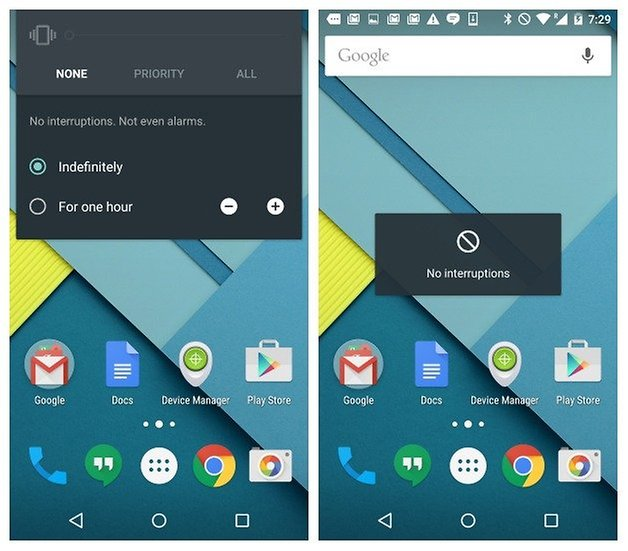 AndroidPIT Nexus 5 Android 5 0 1 Lollipop no notifications