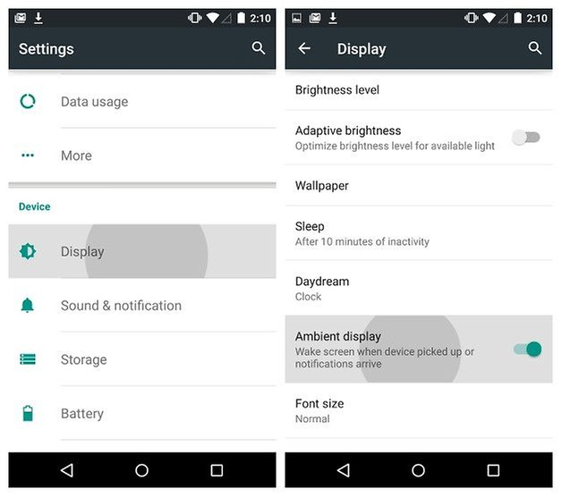 AndroidPIT Nexus 5 Android 5 0 Lollipop Ambient Display