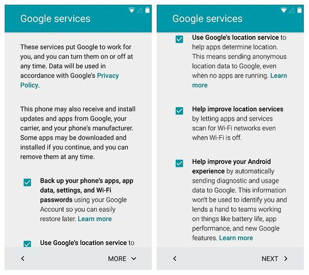 AndroidPIT Nexus 5 Android 5 Lollipop Setup Google Services