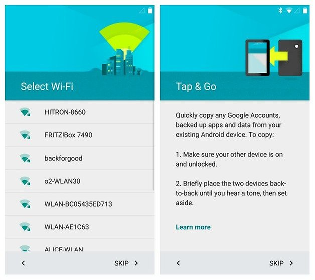 AndroidPIT Nexus 5 Android 5 Lollipop Setup Wi Fi Tap Go