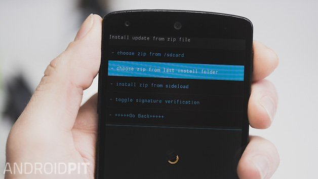 AndroidPIT Nexus 5 CWM choose zip
