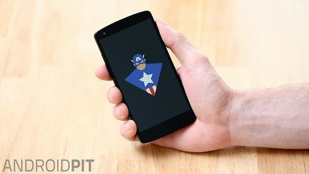 AndroidPIT Nexus 5 boot animation captain america