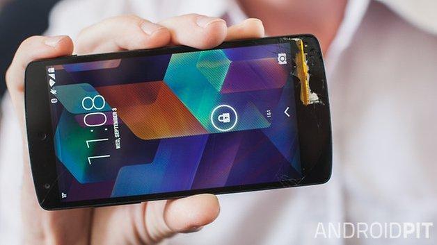 AndroidPIT Nexus 5 broken screen