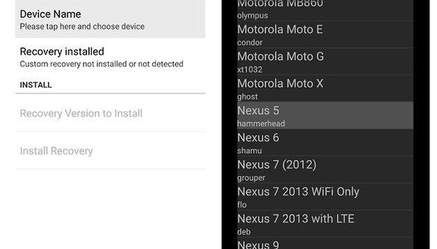 How to install custom recovery on the Nexus 5 for ultimate