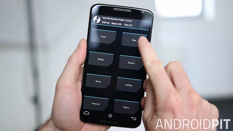 AndroidPIT Nexus 6 TWRP Recovery menu wipe