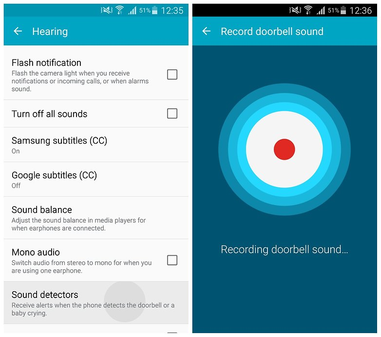 AndroidPIT Note 4 Sound detectors
