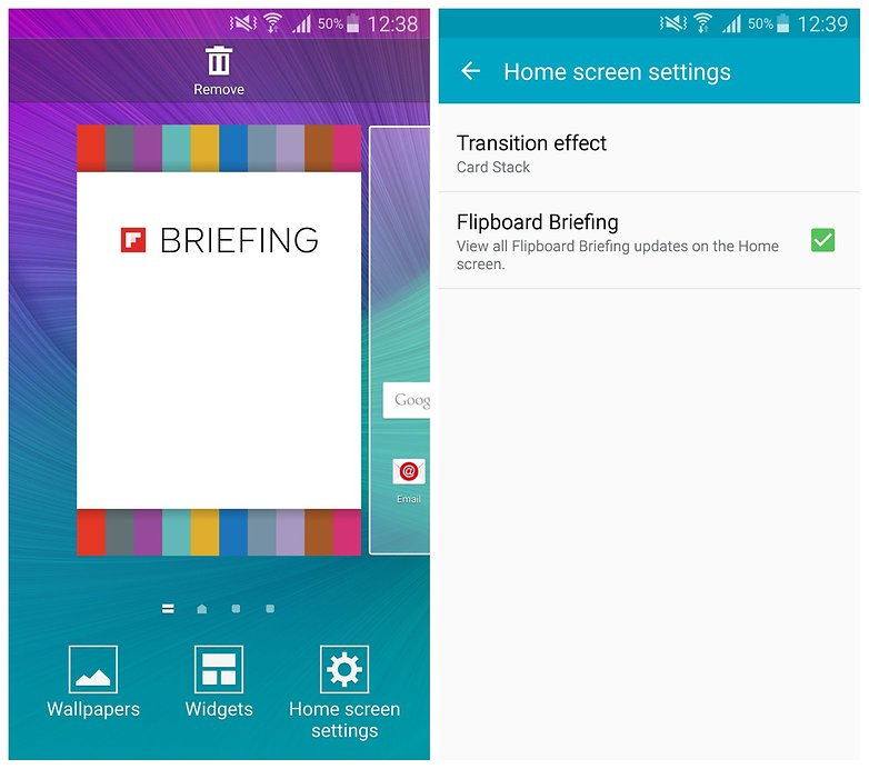 AndroidPIT Note 4 briefing home screen settings