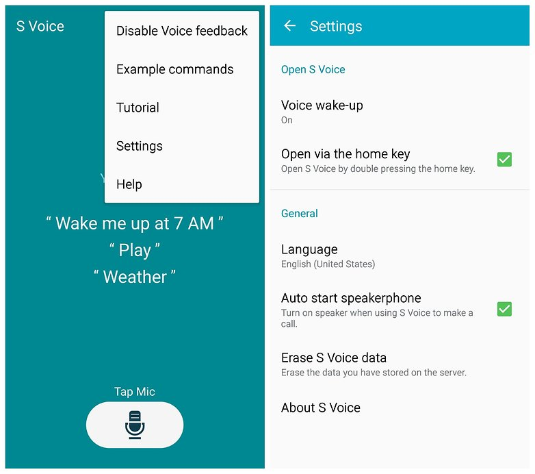 AndroidPIT Note 4 s voice settings