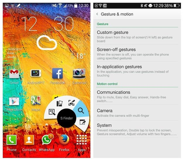 AndroidPIT Note3 SPen Find7a Motion Controls