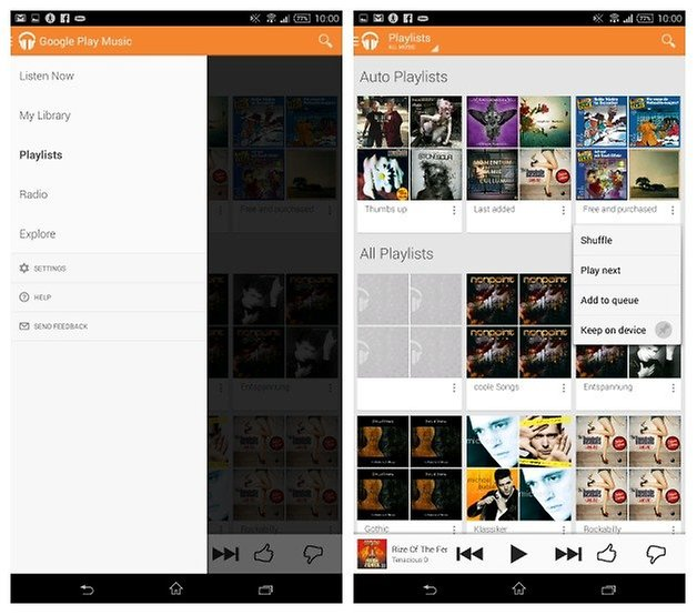 AndroidPIT Play Music Playlists