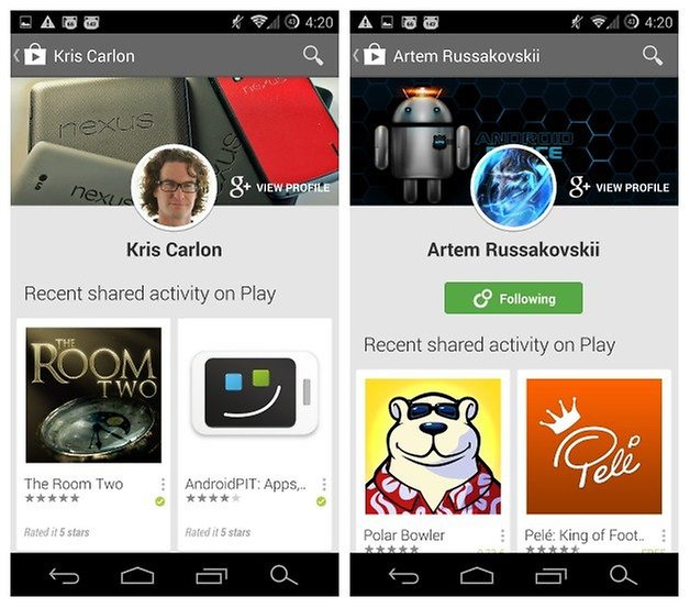 AndroidPIT Play Store Shared Activity