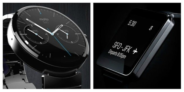 AndroidPIT Round Square Smartwatches