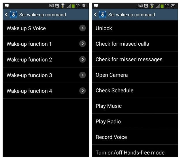 AndroidPIT S3 Voice Commands 2