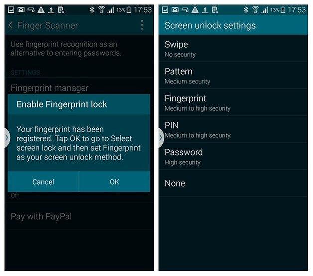 AndroidPIT S5 Finger Scanner 2