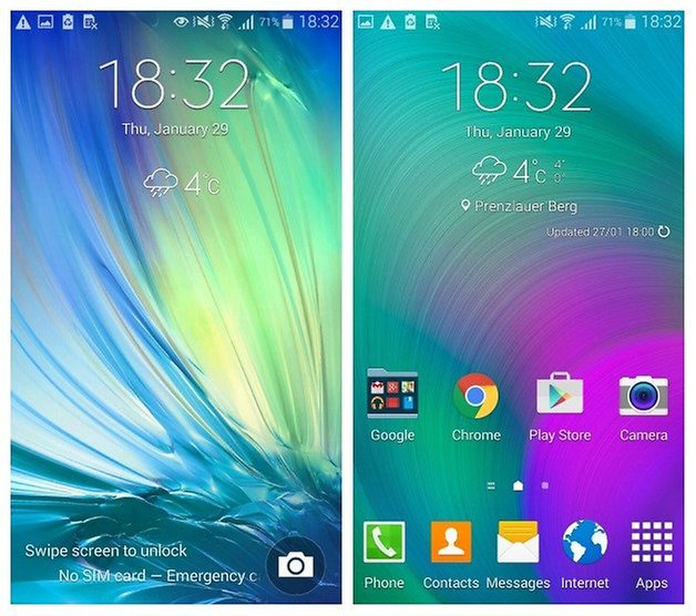 AndroidPIT Samsung Galaxy A5 Android 4 4 4 touchwiz lockscreen homescreen