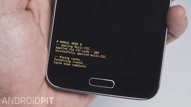AndroidPIT Samsung Galaxy S5 cache partition cleared