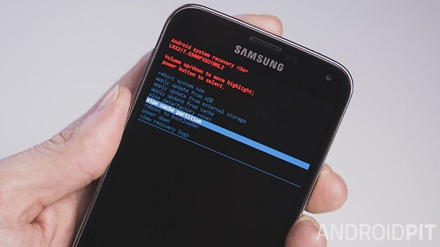 AndroidPIT Samsung Galaxy S5 clear cache partition 1