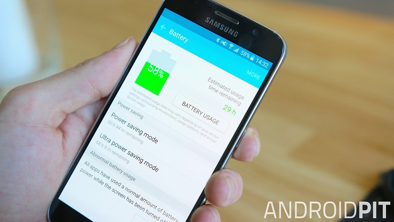 AndroidPIT Samsung Galaxy S6 battery saving modes
