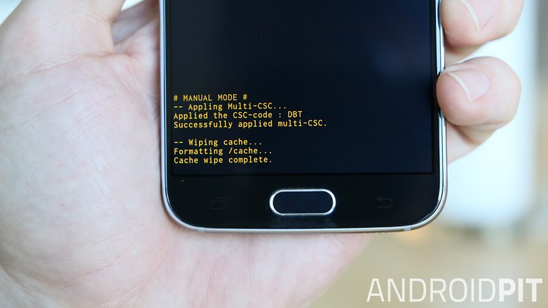AndroidPIT Samsung Galaxy S6 cache wipe complete
