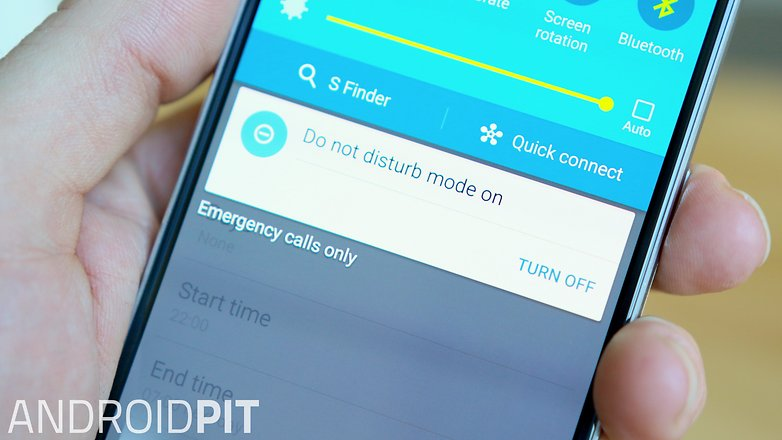AndroidPIT Samsung Galaxy S6 do not disturb