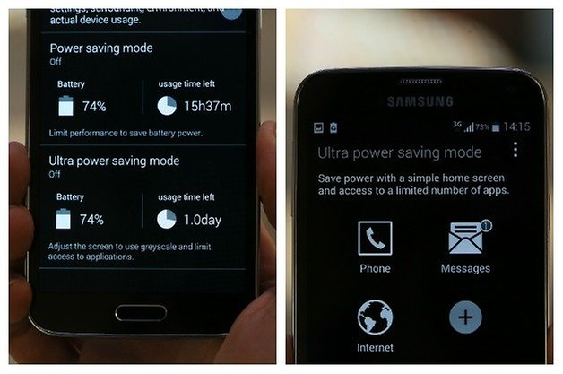 AndroidPIT Samsung Power Saving Mode