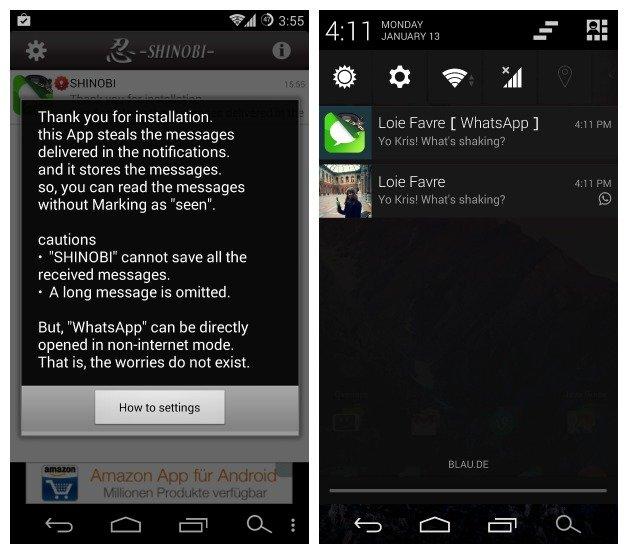 Shinobi Die Ninja App Verbirgt Euren Online Status Bei