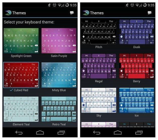 AndroidPIT SwiftKey v5 themes