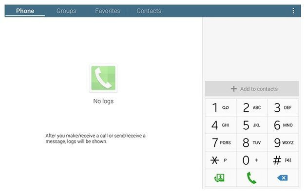 AndroidPIT Tab Pro Dialer