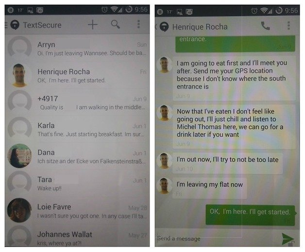 AndroidPIT TextSecure SMS