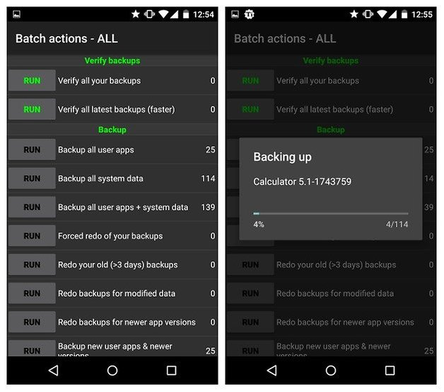 AndroidPIT Titanium Backup batch actions backing up