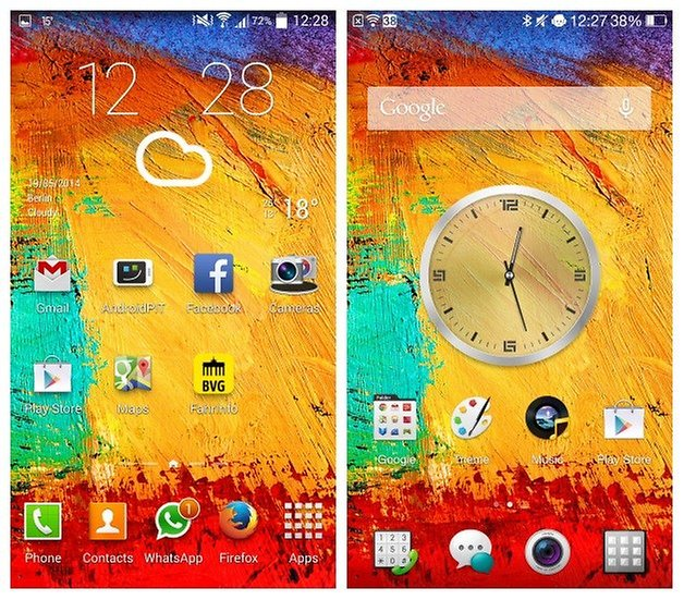 AndroidPIT TouchWiz ColorOS Home Screen