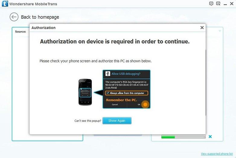 AndroidPIT Wondershare MobileTrans 2