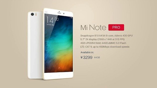 AndroidPIT Xiaomi Mi Note Pro Specs