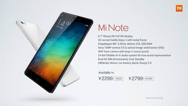 AndroidPIT Xiaomi Mi Note Specs