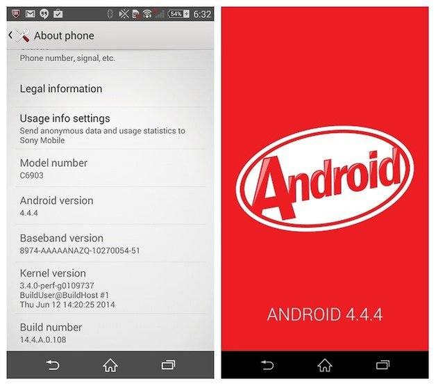 AndroidPIT Xperia Z1 Android 444 Update