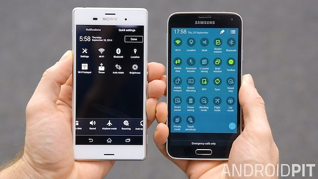 AndroidPIT Xperia Z3 Galaxy S5 7