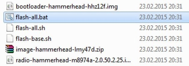 AndroidPIT flash all bat nexus 5 hammerhead