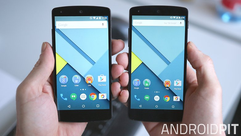 AndroidPIT google nexus 5 screen comparison
